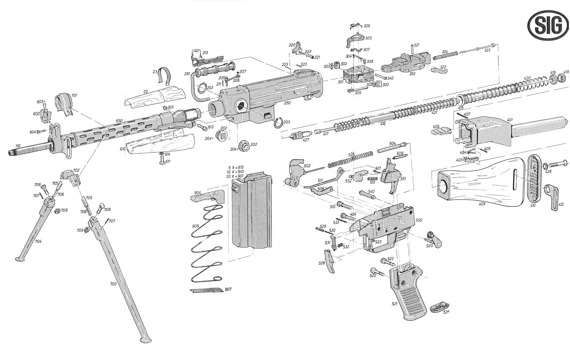 Gun Diagrams Ar 15 Lightning Link Plans Exploded View